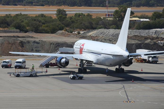 Le Boeing 767 des Rolling Stones a quitté Perth, en Australie, dans la journée pour rejoindre New York.