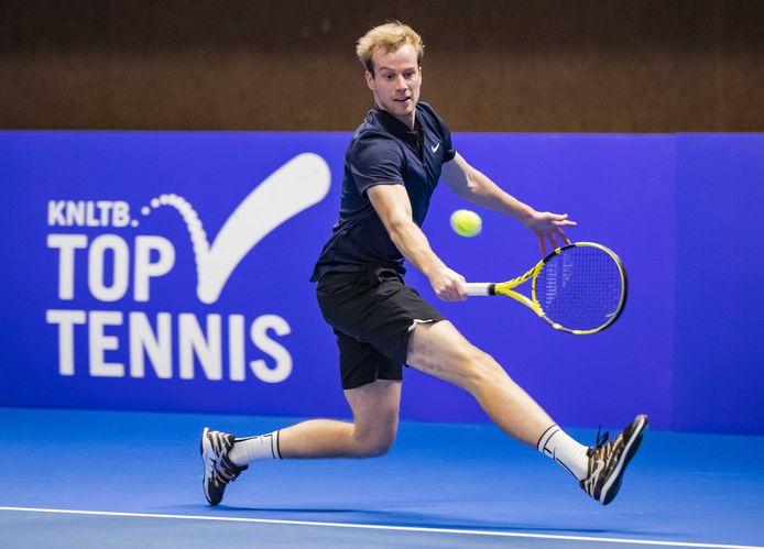 Botic van de Zandschulp  verloor in december de finale op het NK  van Tim van Rijthoven.