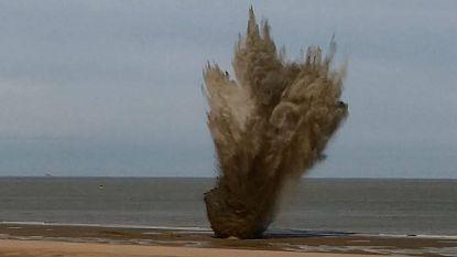Opnieuw 7 bommen tot ontploffing gebracht op strand van Wenduine