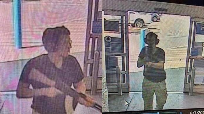 Beeld van Patrick Crusius op zijn moordtocht door een supermarkt.