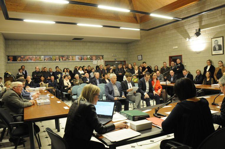 De gemeenteraad van Kortenaken bij de installatievergadering.
