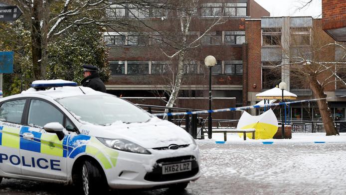 Le banc où ont été retrouvés les deux victimes à Salisbury.