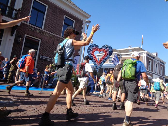 Het marathonhart tijdens de Nijmeegse Vierdaagse