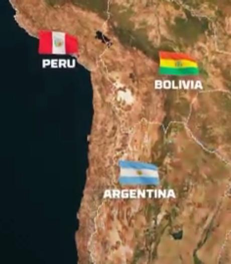 Dit is het parcours van de Dakar Rally 2018