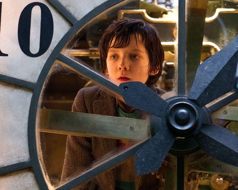 Asa Butterfield in de met Oscars bekroonde film 'Hugo' uit 2012.