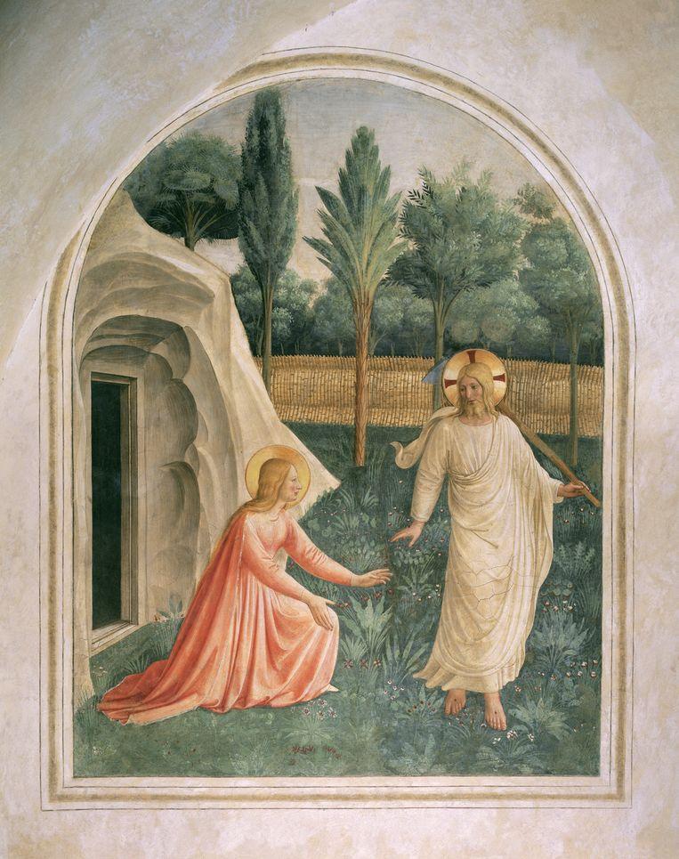 Fra Angelico, Noli me tangere, 1440-42, fresco op muur, 166 x 125 cm, Klooster van San Marco, Florence (cel 1).  Beeld Imageselect