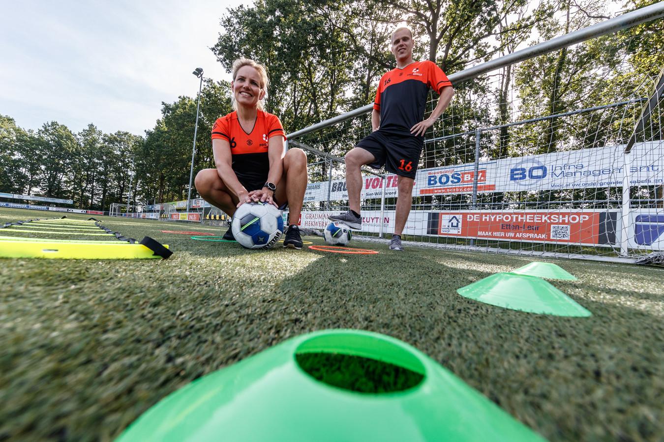 ETten-Leur - 23-8-2019 - Foto: Pix4Profs/Marcel Otterspeer - Claudine en Nelson starten een nieuwe voetbalschool in Etten-Leur.