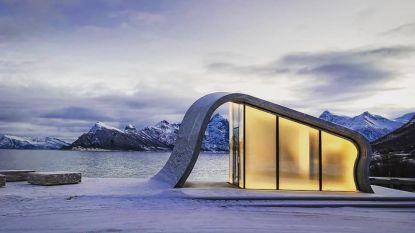 Zelfs openbare toiletten kunnen idyllisch zijn, bewijst deze plek in Noorwegen