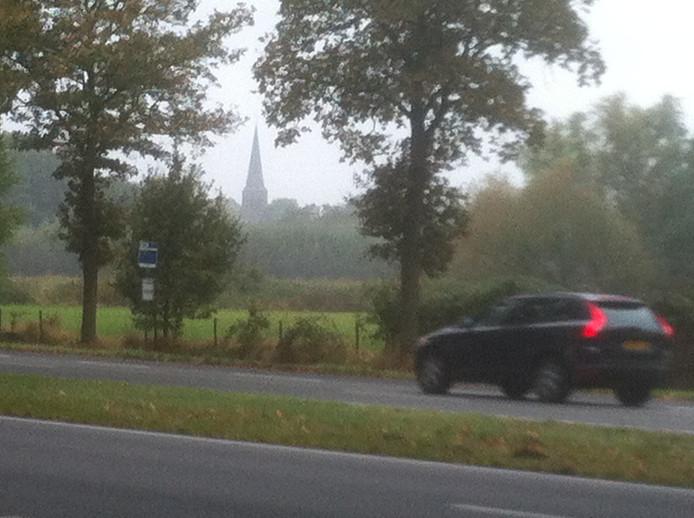 Zicht op Helvoirt, over de N65 heen.