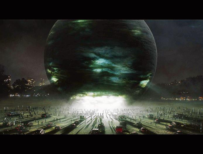 Buitenaards leven is geland in de film The Day The Earth Stood Still.