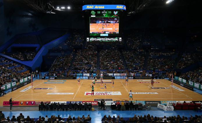 De RAC Arena in Perth waar de strijd om de Fed Cup wordt gehouden.