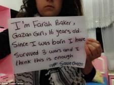 Tiener uit Gaza twittert over angsten en naderende dood