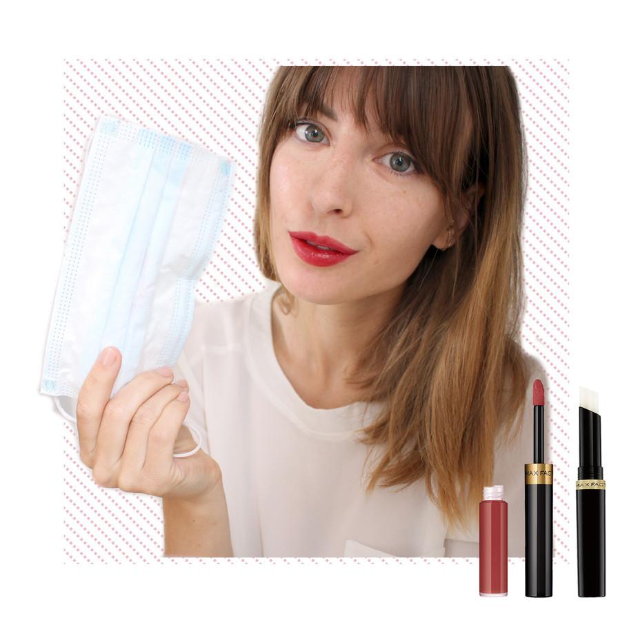Max Factor Lipfinity: geen vlekje te zien op de binnenkant van mijn mondkapje