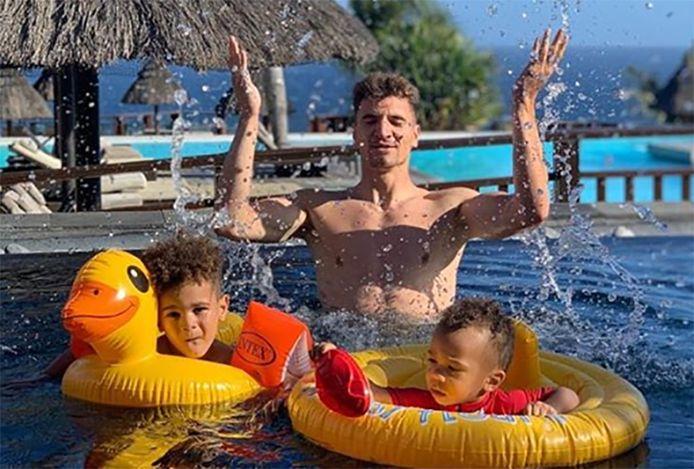 Vacances en famille à La Réunion pour Thomas Meunier