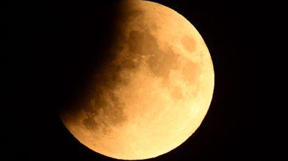 Gedeeltelijke maansverduistering is begonnen