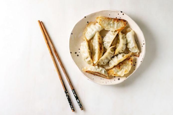 Gebakken chinese dumplings