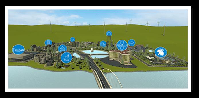 De virtuele stad moet bouwprofessionals helpen om de juiste keuzes te maken.