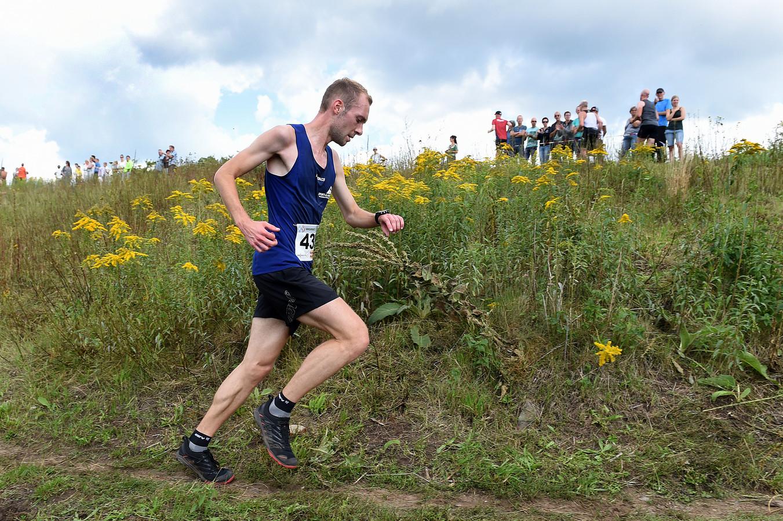 Winnaar Pascal Schepers tijdens een eerdere editie van de Bergrun.