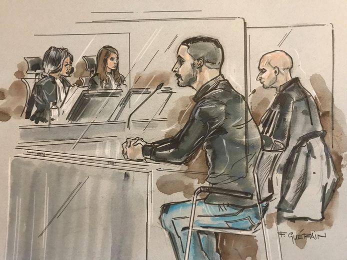 Verdachte Bilal T. met zijn advocaat Anis Boumanjal