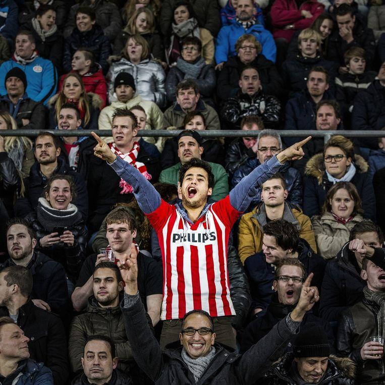 PSV-supporter. Beeld null