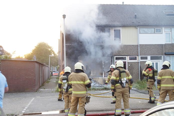 Brand in woning aan de Van Ruysdaelstraat in Oudheusden.
