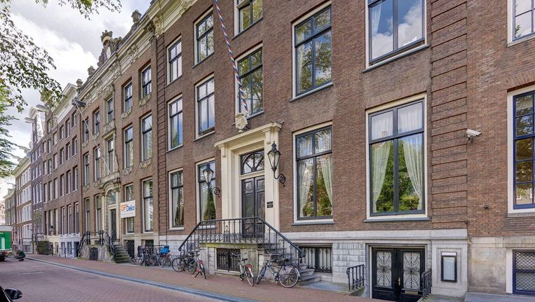 Een van de duurste Amsterdamse huizen ooit op Funda: Herengracht 518, te koop voor bijna 15 miljoen. Beeld Funda
