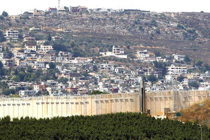 De grens tussen Israël en Libanon, gezien vanuit Israël.