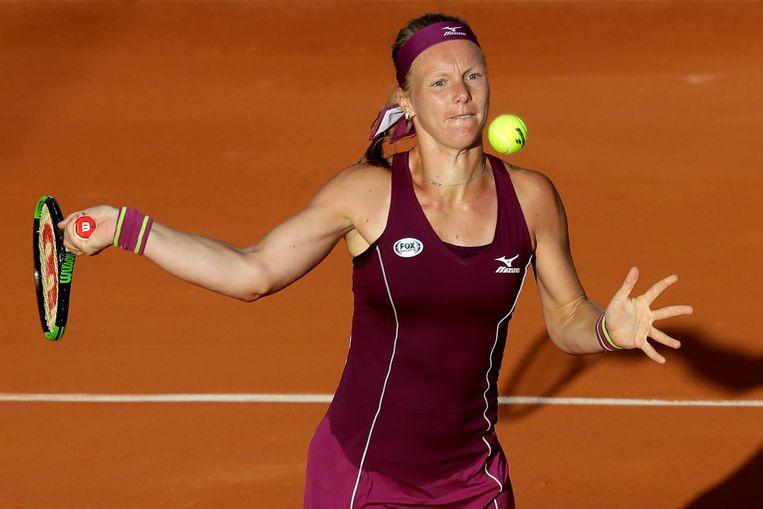 Kiki Bertens vorig jaar op Roland Garros. Beeld AP