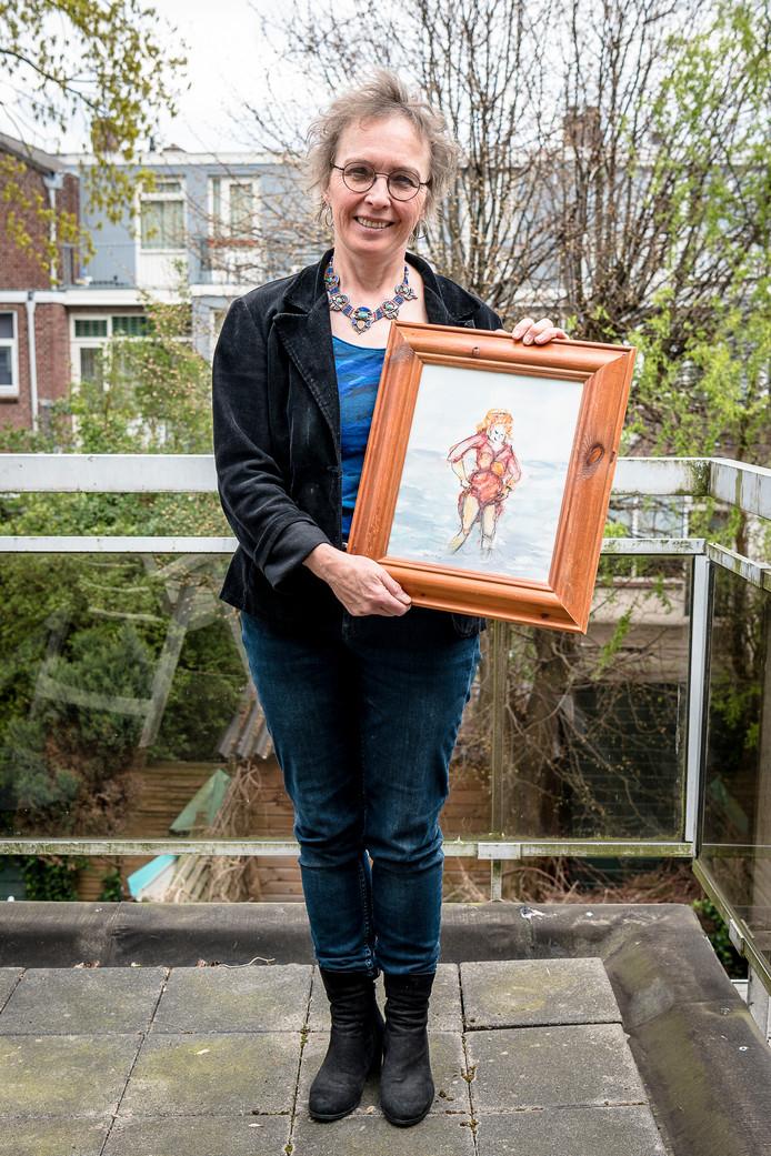 Diet van Velzel geniet van haar werk in haar eigen atelier: ,,Er kwam iets bij me los.''