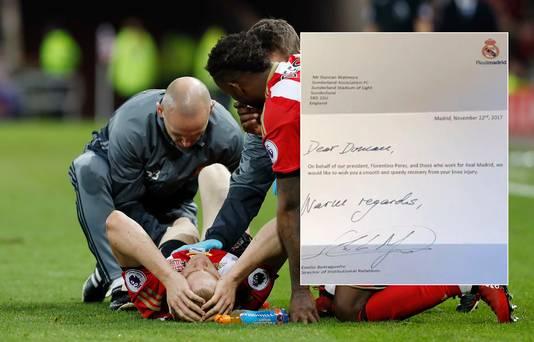 3 december 2016: Duncan Watmore loopt in de Premier League-wedstrijd tegen Leicester zijn eerste blessure op. Inzet: de brief van Real Madrid.