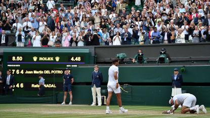 """Het staaltje van absolute klasse van Nadal na epische kwartfinale tegen Del Potro: """"Die vijfde set is van het beste dat ik ooit gezien heb"""""""