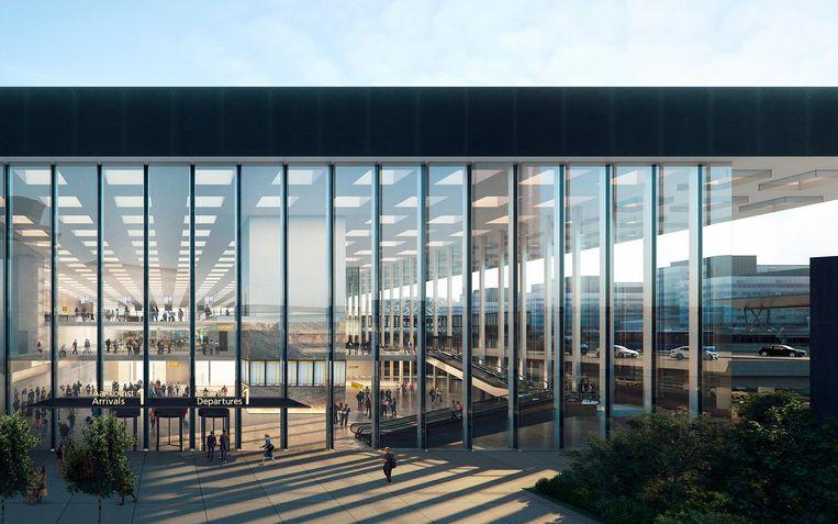 De ingang van de terminal. Beeld Kaan Architecten