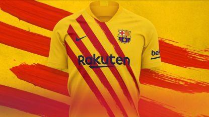 """FC Barcelona stelt nieuwe truitjes met politiek symbool voor: """"Onze Catalaanse identiteit niet kwijtgeraakt"""""""