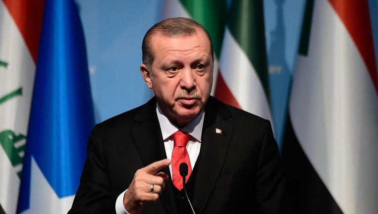 Erdogan is boos op de Nederlandse cartoonist Oppenheimer Beeld afp