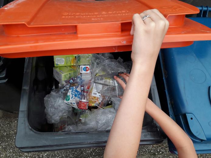 Het merendeel van de verpakkingsmaterialen kunnen worden hergebruikt en mogen daarom in de PMD-container.