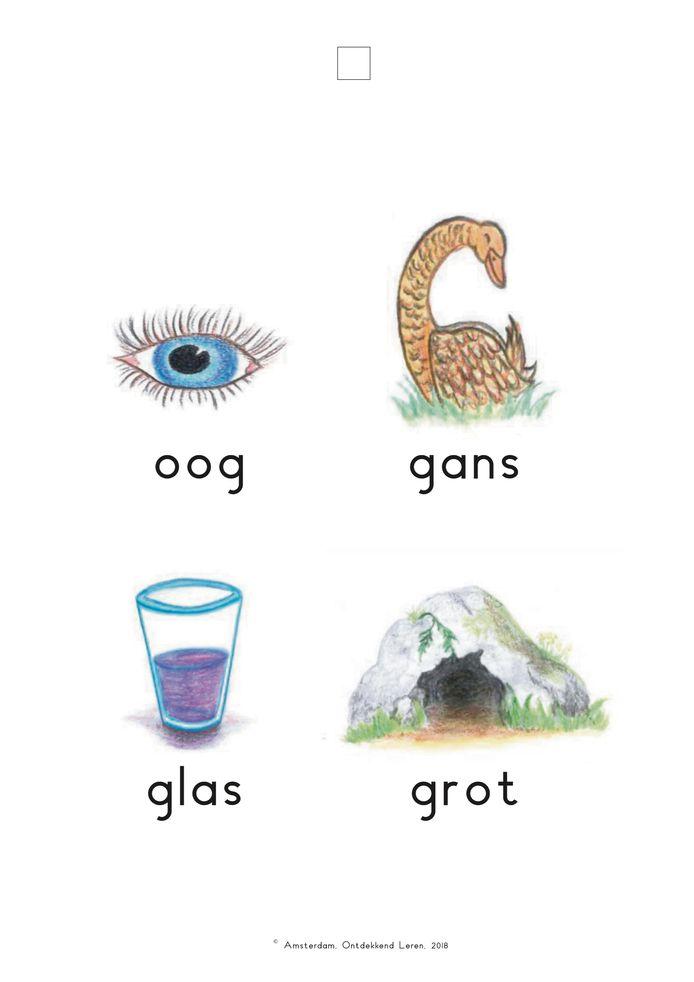 Het ontdekblad bij de methode Ontdekkend Leren Lezen, voor de letter 'g'.