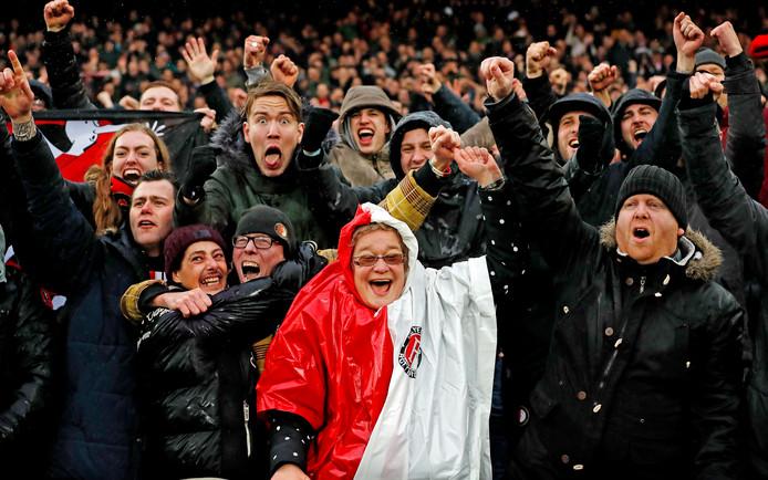 Het legioen was verleden jaar bij de competitiewedstrijd uitzinnig na de 6-2 winst op rivaal Ajax.