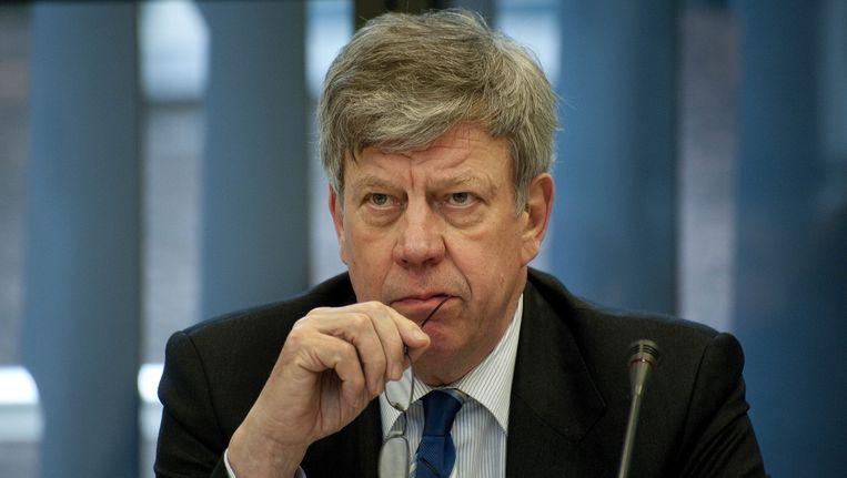 Minister van Veiligheid en Justitie Ivo Opstelten tijdens het debat over het schietdrama in Alphen aan den Rijn. Beeld anp