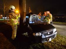 Auto total loss na botsing op boom in Apeldoorn