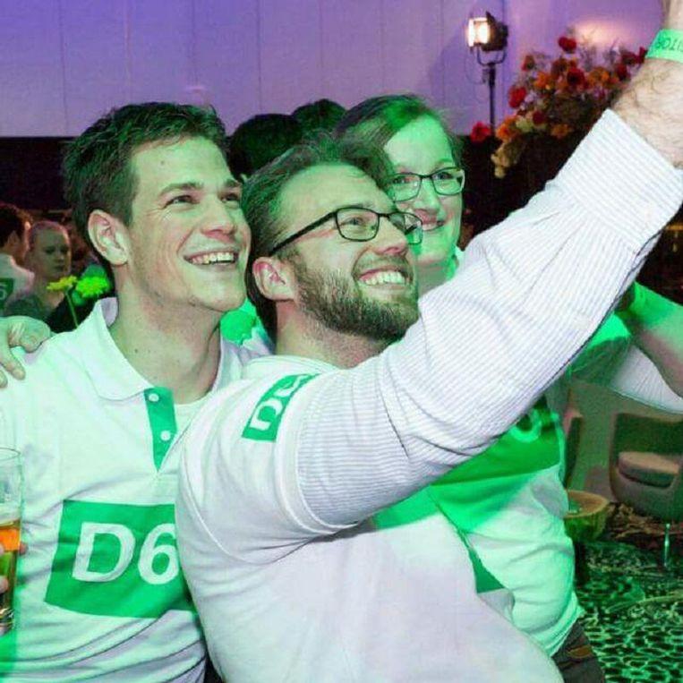 D66-leden Debora (29), Jörgen (28) en Peter Paul (32). Beeld .