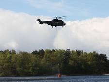 Motor van helikopter in brand op vliegveld Gilze-Rijen, bemanning ongedeerd