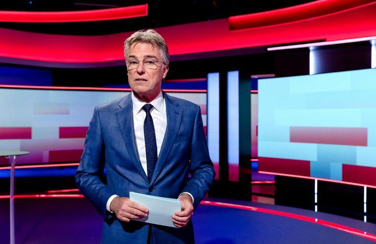 Rob Trip presenteert het NOS Journaal. De gemiddelde Nederlander geeft NOS Nieuws het hoogste rapportcijfer voor betrouwbaarheid. Beeld ANP Kippa