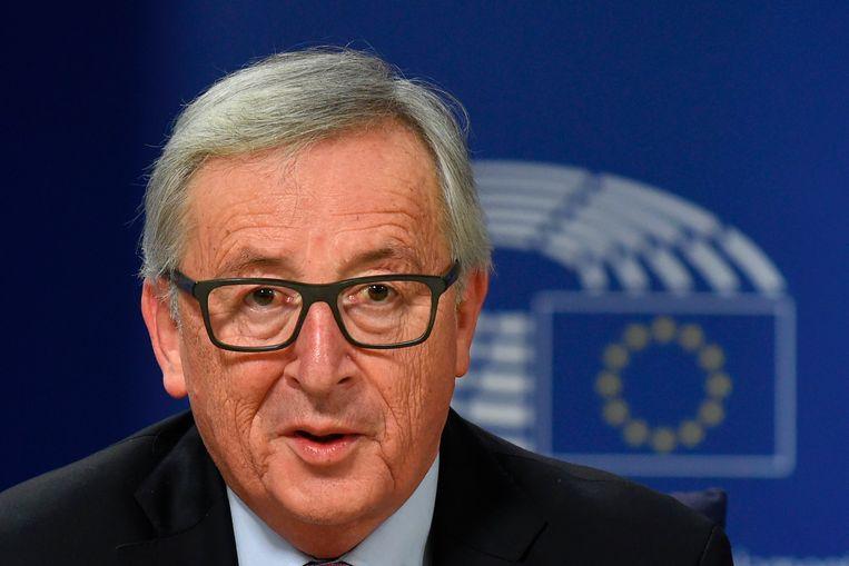 Voorzitter van de Europese Commissie Jean-Claude Juncker. Beeld AFP
