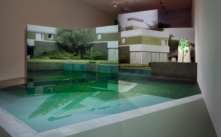Een moderne villa in Madrid vormde de inspiratiebron voor Taminiaus Robotic Nature-collectie uit 2016. In het museum is een beeld van de villa, inclusief zwembad, nagebouwd. Beeld Ernst Moritz