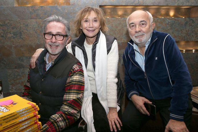 """Thierry Lhermitte, Marie-Anne Chazel et Gérard Jugnot - 40ème anniversaire des """"Bronzés font du ski"""", avec la présence des acteurs et du réalisateur à Val d'Isère le 11 Janvier 2020."""