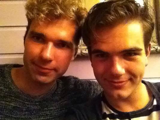 Bas en zijn vriend Jan Willem.