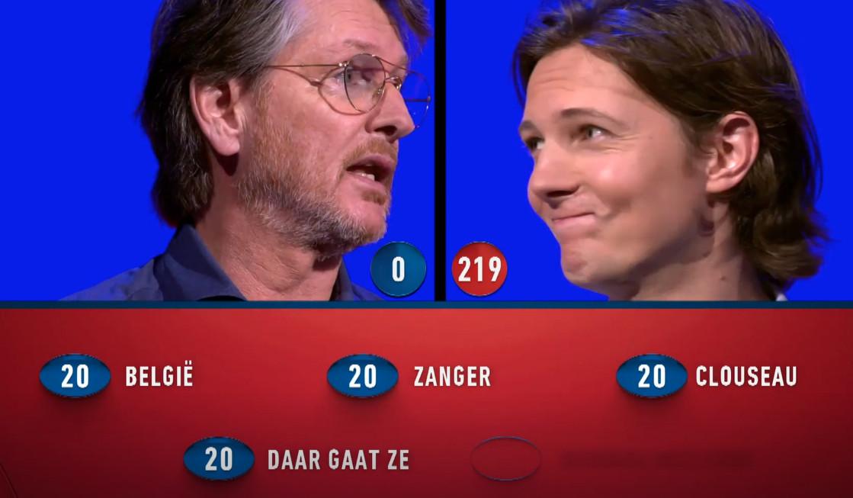 Erik de Zwart geeft nog vier goede antwoorden in elf seconden, maar dan is het echt voorbij
