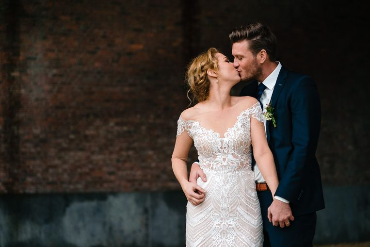 Jolien en Lenny - Blind Getrouwd - trouwfoto's