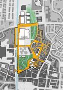 Kaartje van bouwplan Helmond Centrum-noord.