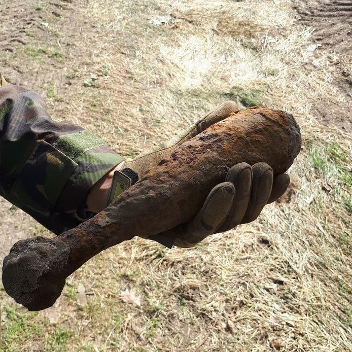 De granaat werd in Haaren gevonden